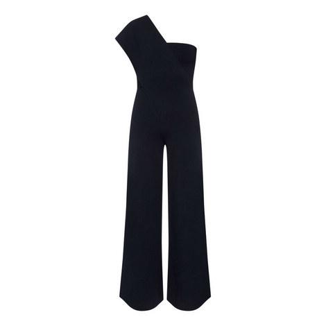 Shoulder Long Jumpsuit, ${color}