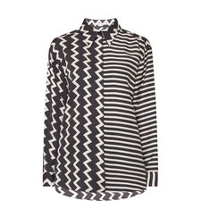 Zig Zag Silk Shirt