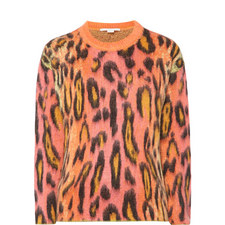 Neon Leopard Print Jumper