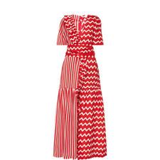 Gabrielle Zig Zag Silk Dress