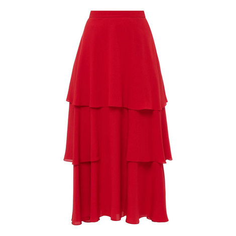 Long Crêpe Skirt, ${color}