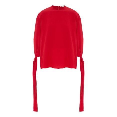 Bow Cuff Blouse, ${color}