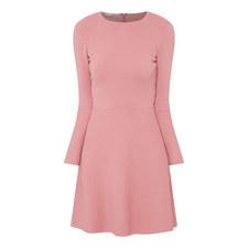 Woven Long Sleeve Mini Dress