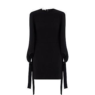 Bow Sleeve Mini Dress
