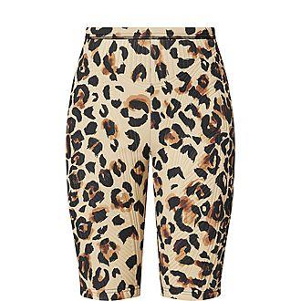 Leopard Print Bike Shorts