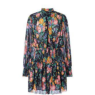 Shirred Mini Dress