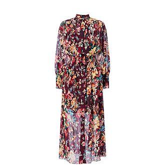 Allia Shirred Maxi Dress