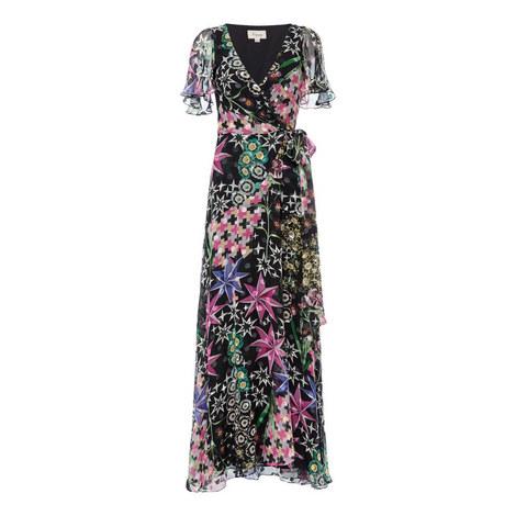 Evening Clauette Wrap Dress, ${color}