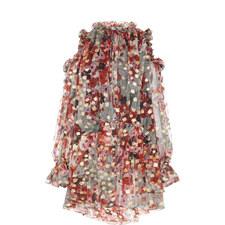 Feather Mini Dress
