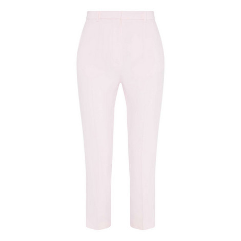 High Waist Straight Fit Trousers, ${color}