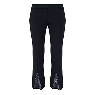 Lace Insert Cigarette Trousers