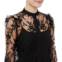 Puff Sleeve Lace Shirt, ${color}