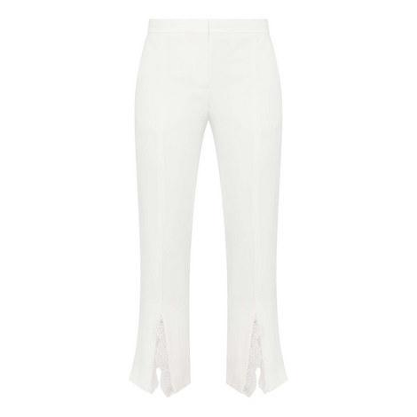 Lace Insert Cigarette Trousers, ${color}