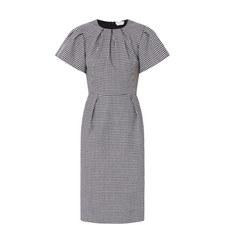 Puffed Sleeves Midi Dress