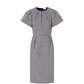 Puffed Sleeves Midi Dress