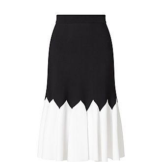 Flared Knitted Skirt