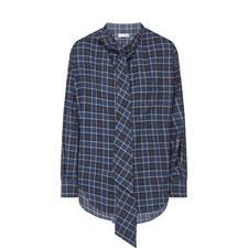 Logo Print Flannel Shirt