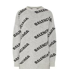 Jacquard Logo Sweater