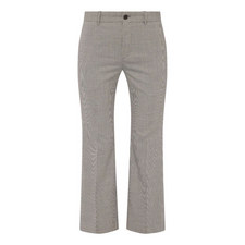 Flared Leg Houndstooth Trousers