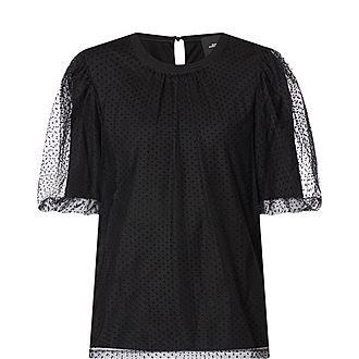 Flocked Dot Evening T-Shirt