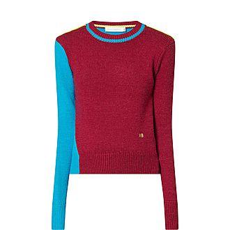 Colourblock Cropped Sweater
