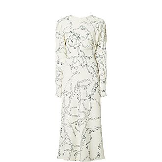 Chain Print Batwing Dress