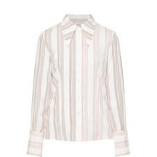 Striped Slash Sleeve Top