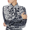 Fitted Leopard Print Shirt, ${color}