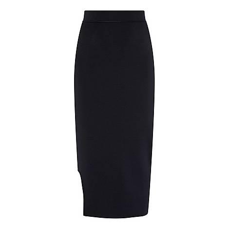 Curved Hemline Pencil Skirt, ${color}