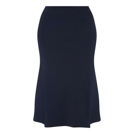 Flared Midi Skirt, ${color}