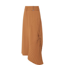 Circle Pleat Maxi Skirt