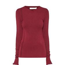 Sheer Ribbed Sweater