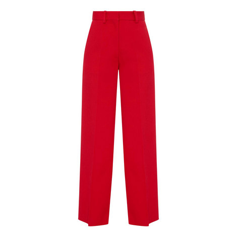 High Waist Wide Fit Trousers, ${color}