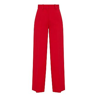 High Waist Wide Fit Trousers