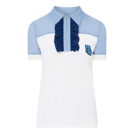 Frilled Polo T-Shirt, ${color}