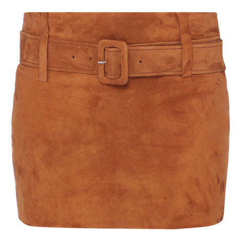 Suede Mini Skirt, ${color}