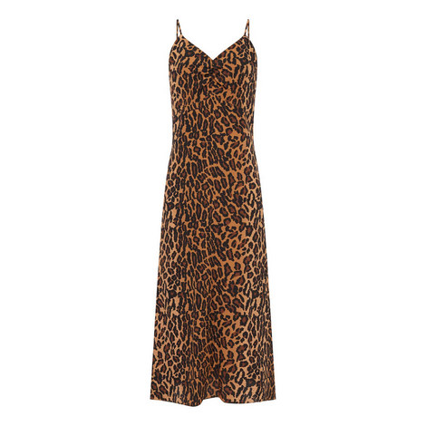 Leopard Print Slip Dress, ${color}