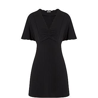 Scalloped Sleeve Mini Dress