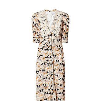Horse Print Midi Dress