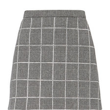 Shetland Check Diamante Skirt