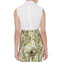 Sleeveless Cotton Shirt, ${color}