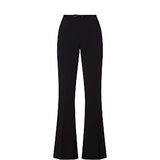 High-Waisted Bow Trousers