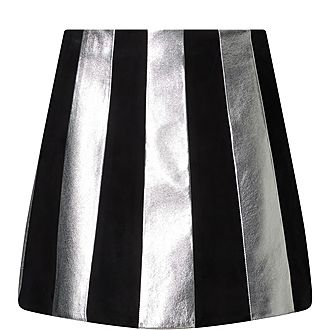 Metallic Stripe Skirt