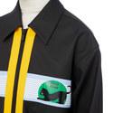 Contrast Zip Coat, ${color}