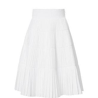 Cotton Pleated Skirt