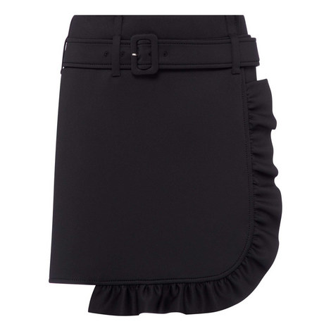 Technical Jersey Frill Skirt, ${color}