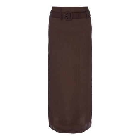 Chiffon Belt Skirt, ${color}