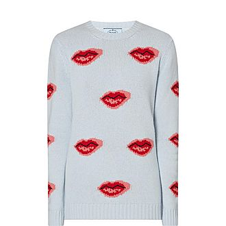 Lip Appliqué Sweater