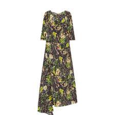 Rose Print Long Dress