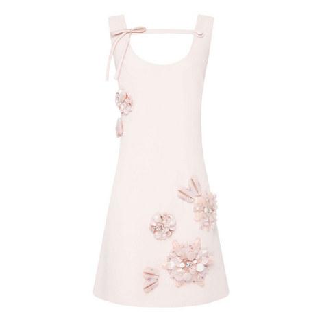 Floral Embellished Mini Dress, ${color}